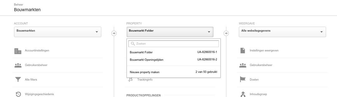 Bouwmarkten met Property's