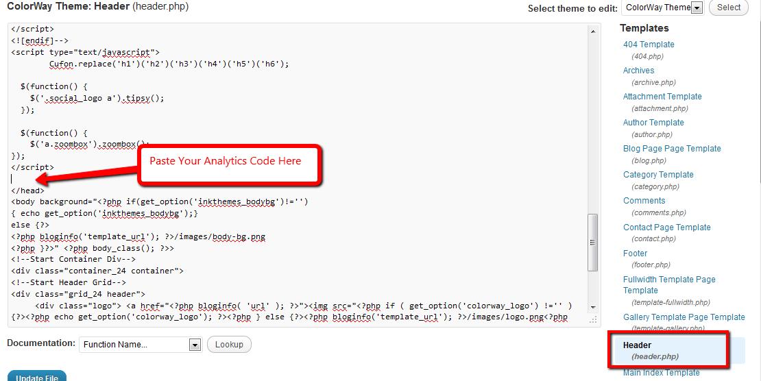 Google Analytics code plaatsen voor head tag